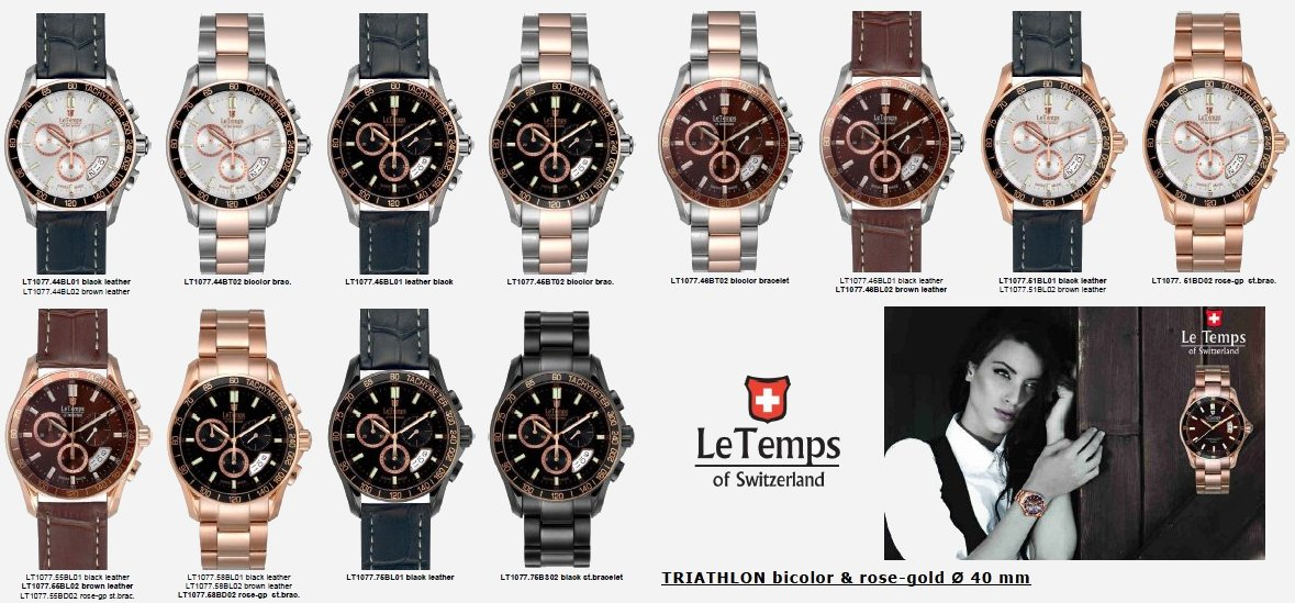 LeTemps-TRIATHLON-bicolor & rose-gold Ø 40 mm